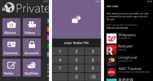 how to hide and lock app on windows phone