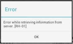rh-01 error google play store
